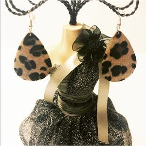 New Tear Drop Earrings Leopard Design